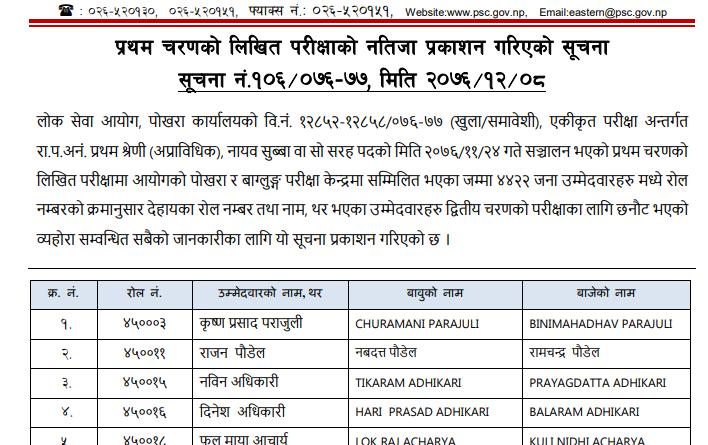 pokhara result