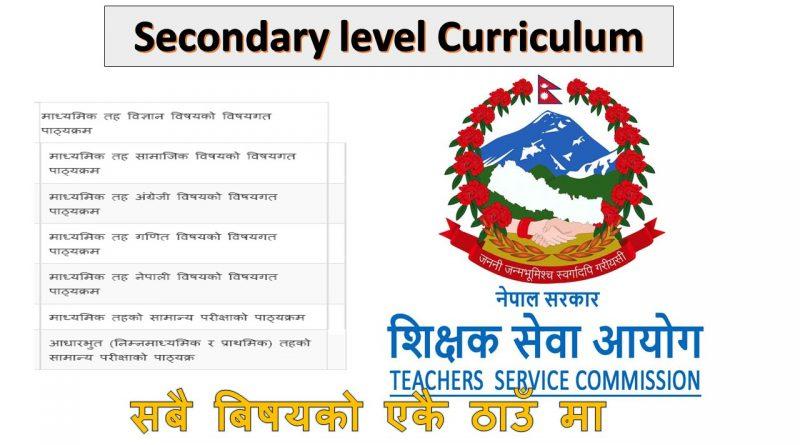 secondary level curriculum