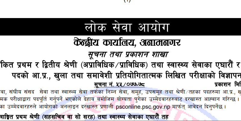 loksewa aayog vacancy 2077