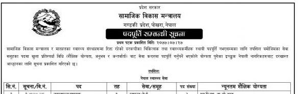 gandaki province vacancy
