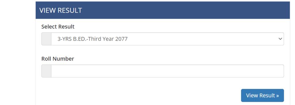 3-Years B.ED Third Year Result 2077