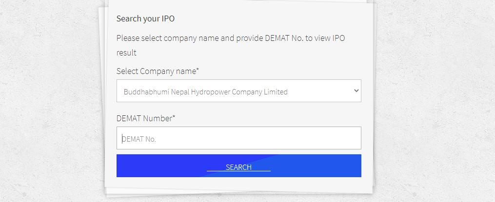 Buddha Bhumi Nepal Hydropower Company IPO Result