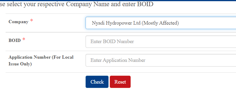 Nyadi Hydropower Limited IPO Result